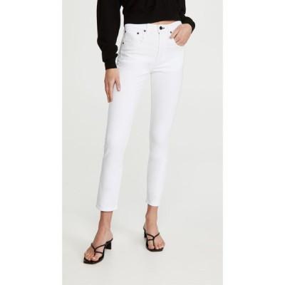 ASKK NY レディース ジーンズ・デニム ボトムス・パンツ High Rise Crop Jeans White