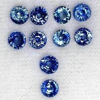 【お取り寄せ】サファイア 4.58 Cts Natural Amazing Quality Royal Blue Sapphire Round Cut Lot 4.5mm Ceylon