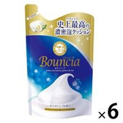 牛乳石鹸共進社バウンシア ボディソープ ホワイトソープの香り 詰め替え 400ml 6個 牛乳石鹸共進社