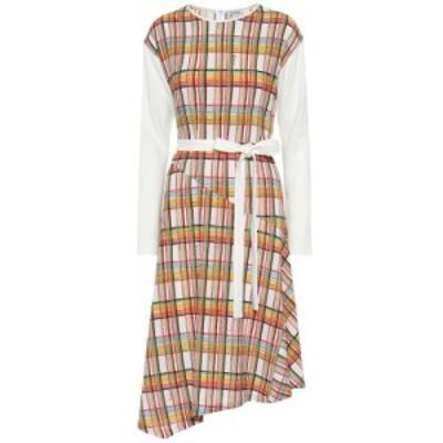 ロエベ Loewe レディース ワンピース ミドル丈 ワンピース・ドレス Checked wool midi dress White/Multicolor