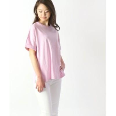 アッパーハイツ  サイドスリットTシャツ THE ROLLED TEE upper hights 192TW04 国内正規品 2019春夏新作 メール便可能商品[M便 5/5] あり