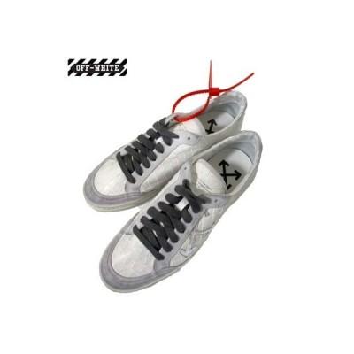 オフホワイト OFF-WHITE メンズ 靴 スニーカー ロゴ シルバーアローロゴ入りホワイトシューレース 白 銀 OMIA042F 19D68037 0191(R66000)  HA91A