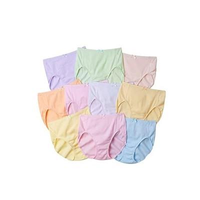 [nissen(ニッセン)] ショーツ セット 10枚組 大きいサイズ レディース 深ばき ハイウエスト 綿100% リブ ゴムが肌?
