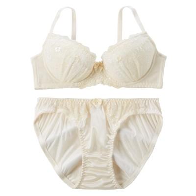 シンプルフラワーブラジャー・ショーツセット(B65/M) (ブラジャー&ショーツセット)Bras & Panties