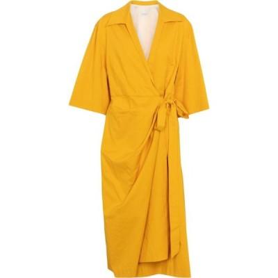 ドリス ヴァン ノッテン Dries Van Noten レディース ワンピース ラップドレス ワンピース・ドレス cotton-blend wrap dress Yellow