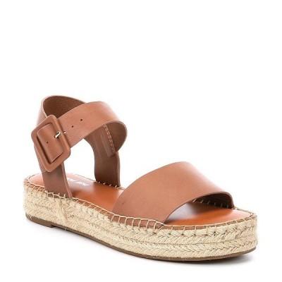 ジアーニビニ レディース サンダル シューズ Kaygan Leather Espadrille Flatform Sandals Vacay Tan