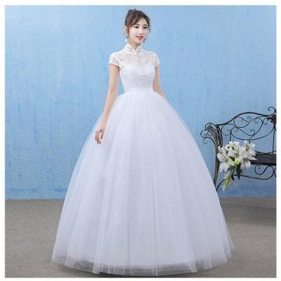 ウェディングドレス カラードレス 大きいサイズ ロング 二次会 花嫁 発表会 結婚式