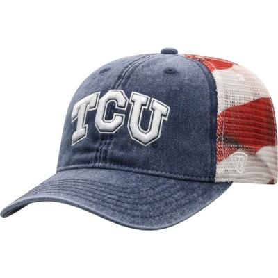 トップオブザワールド Top of the World メンズ キャップ 帽子 TCU Horned Frogs Red/White/Blue July Adjustable Hat