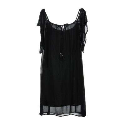 CHELSEA FLOWER ミニワンピース&ドレス ブラック M レーヨン 100% ミニワンピース&ドレス