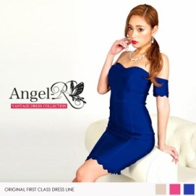 Angel R エンジェルアール ドレス キャバ ドレス キャバドレス エンジェル アール ドレス スカラップデザインバンテージドレス オフショ