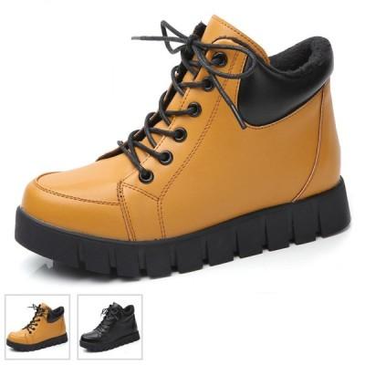 レディースムートンブーツ ボア靴 暖かい靴 ウエッジソール 厚底靴 スニーカー ハイカット 美脚 履きやすい 歩きやすい 疲れない おしゃれ