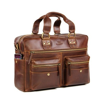 ALMADIH Unisex AdultBriefcase Brown M45 並行輸入品