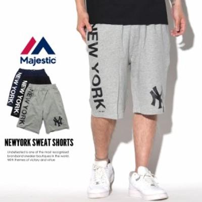 マジェスティック MAJESTIC ハーフパンツ メンズ スウェット ニューヨーク・ヤンキース NEWYORK SWEAT SHORTS