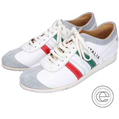 Dolce&Gabbana ドルチェアンドガッバーナ SUMMER2003 ITALIA トリコロール レザースニーカー 36 ホワイト レディース