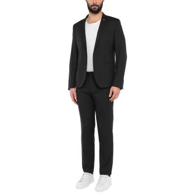 マニュエル リッツ MANUEL RITZ スーツ ブラック 54 ポリエステル 64% / レーヨン 34% / ポリウレタン 2% スーツ