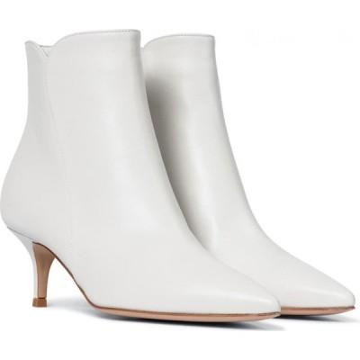 ジャンヴィト ロッシ Gianvito Rossi レディース ブーツ ショートブーツ シューズ・靴 levy 55 leather ankle boots White