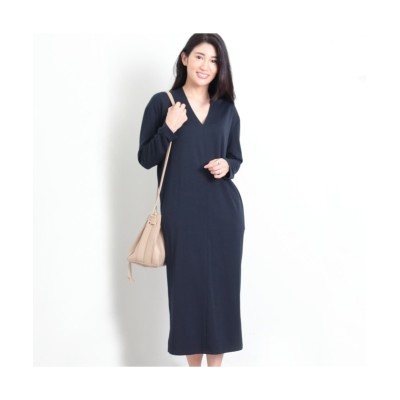 MARTHA(マーサ) Vネックコクーンロングワンピース (ワンピース)Dress