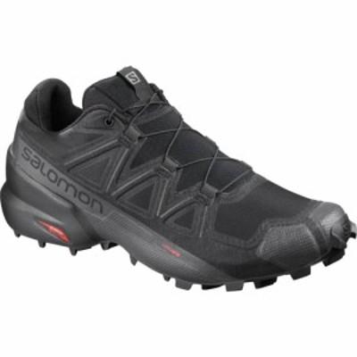 サロモン Salomon メンズ ランニング・ウォーキング シューズ・靴 Speedcross 5 Wide Trail Running Shoes Black/Black/Phantom