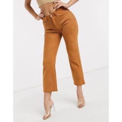 エイソス レディース デニムパンツ ボトムス ASOS DESIGN High rise 'effortless' stretch kick flare jeans in faux suede
