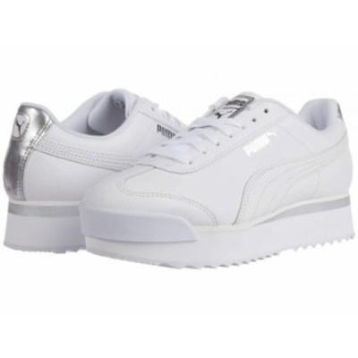 PUMA プーマ レディース 女性用 シューズ 靴 スニーカー 運動靴 Roma Amor Leather Met PUMA White/Whisper White/Silver【送料無料】