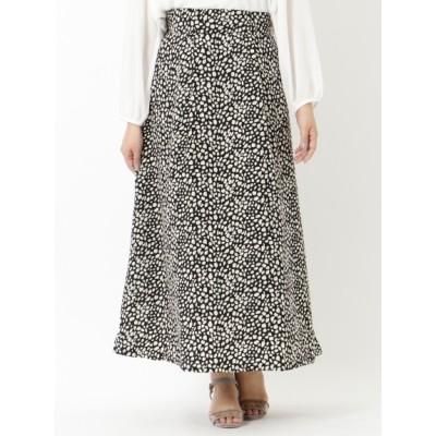 【大きいサイズ】【L-3L】ソフトマーメイドプリントスカート 大きいサイズ スカート レディース