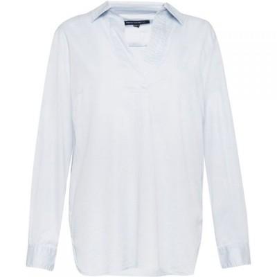 フレンチコネクション French Connection レディース ブラウス・シャツ Vネック トップス Oldenburg Stitch V Neck Shirt Blue