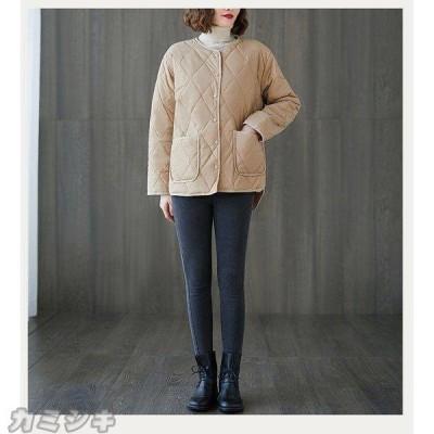 ダウンジャケット アウター レディース 秋冬 インナーダウン ノーカラー アウター 羽織り 上着 大きいサイズ インナージャケット