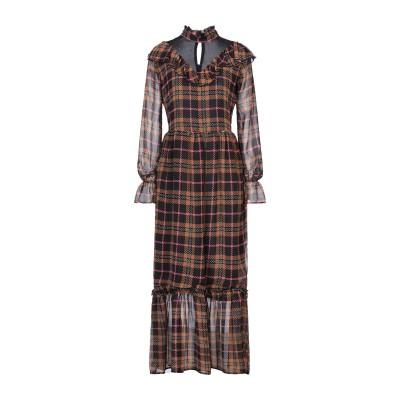 リュー ジョー LIU •JO ロングワンピース&ドレス ブラウン 42 ポリエステル 100% ロングワンピース&ドレス