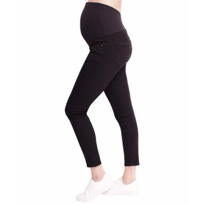 イングリッドアンドイザベル デニムパンツ ボトムス レディース Maternity Skinny Jeans with Crossover Panel Black