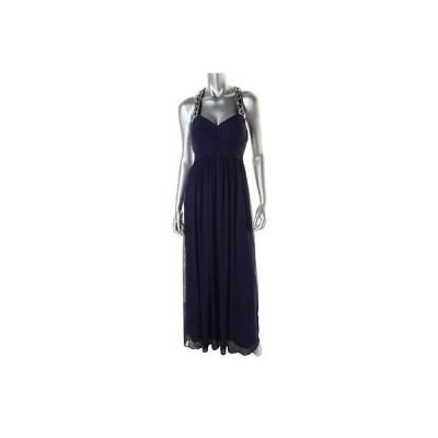 ドレス 女性  ベッツィ アンド アダム Betsy & Adam 4082 レディース ブルー Embellished Prom Evening ドレス Gown 4