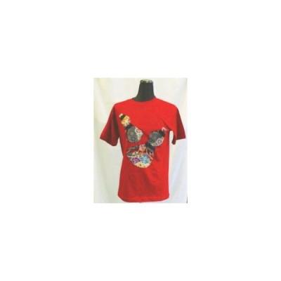 Tシャツ「百花繚乱・花散る金閣」 花柄 百花繚乱・花散る金閣 大きいサイズ 半袖・長袖・七分丈・五分丈