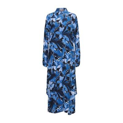 マイケル・コースコレクション MICHAEL KORS COLLECTION 7分丈ワンピース・ドレス ブルー 2 シルク 100% 7分丈ワンピー