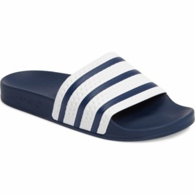 アディダス ADIDAS メンズ サンダル シューズ・靴 Adilette Stripe Sport Slide Adiblue/White/Adiblue