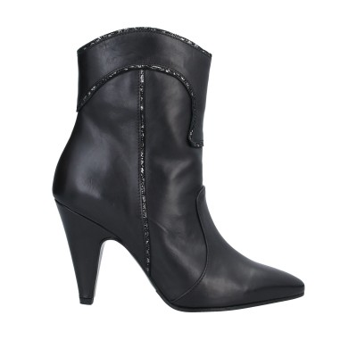 MARC ELLIS ショートブーツ ブラック 40 牛革(カーフ) ショートブーツ