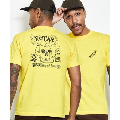 tシャツ Tシャツ Keep Keep on Feeling Tee バックプリント クルーネック Tシャツ