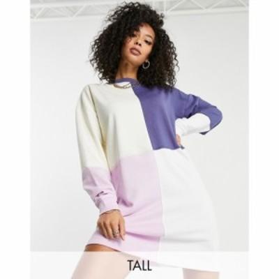 ミスガイデッド Missguided Tall レディース ワンピース ワンピース・ドレス oversized sweater dress in colourblock マルチカラー