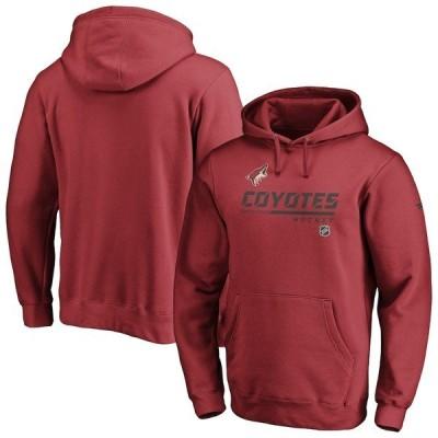 ファナティクス ブランデッド メンズ パーカー・スウェット アウター Arizona Coyotes Fanatics Branded Authentic Pro Core Collection Prime Pullover Hoodie