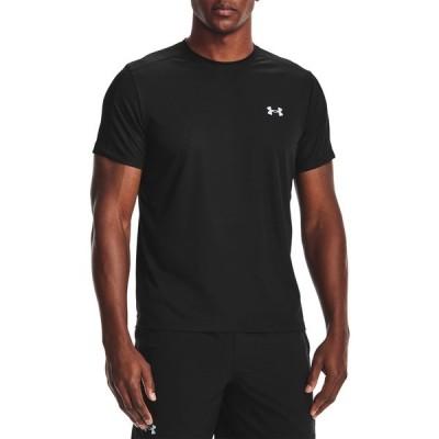 アンダーアーマー シャツ トップス メンズ Under Armour Men's Speed Stride Short Sleeve Shirt Black/Black/Reflective