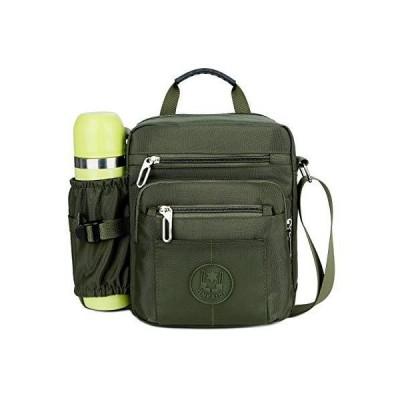 ショルダーバッグ メンズ メッセンジャーバッグ 水筒ポーチ付き 通勤 通学 iPad 収納 軽量 小さめ カバン (な?