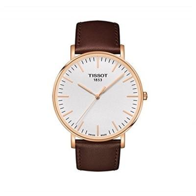 ティソ Tissot 腕時計 メンズ 時計 Tissot Tissot Everytime T1096103603100 White / Brown Leather Analog Quartz Men's Watch
