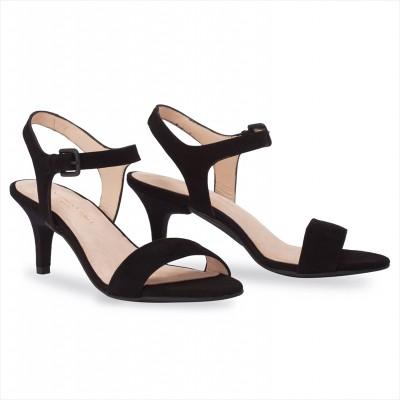 Black Velours / Stiletto 7cm(40)