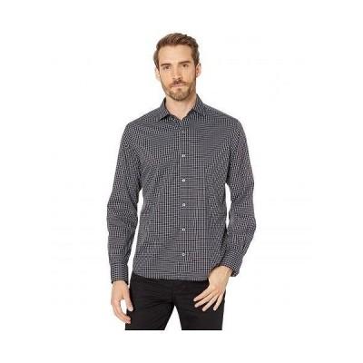 Bugatchi ブガッティ メンズ 男性用 ファッション ボタンシャツ Dingle Long Sleeve Shirt Button-Down Collar Regular Placket - Caviar