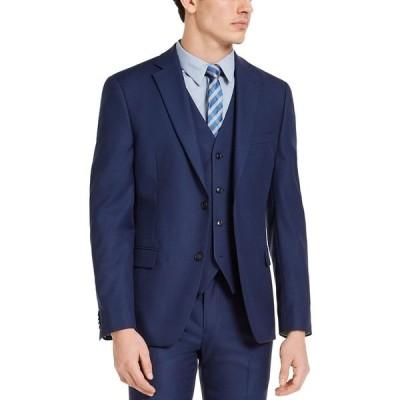 アルファニ ジャケット&ブルゾン アウター メンズ Men's Slim-Fit Stretch Solid Suit Jacket Blue
