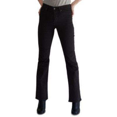 リーバイス レディース デニムパンツ ボトムス 725 High-Waist Bootcut Jeans In Short Length Soft Black
