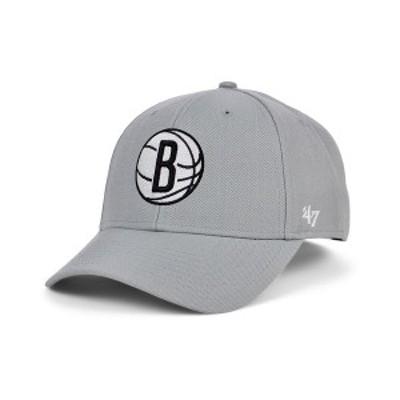 47ブランド メンズ 帽子 アクセサリー Brooklyn Nets Team Color MVP Cap Gray