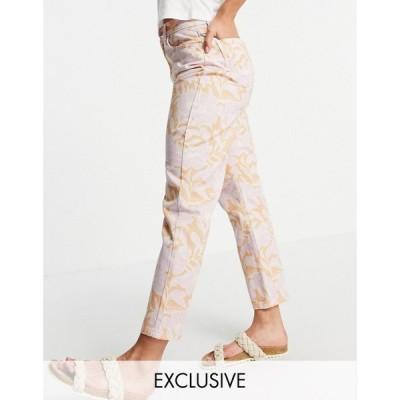 リクレイム ヴィンテージ Reclaimed Vintage レディース ジーンズ・デニム ボトムス・パンツ inspired the 91' original mom jean in floral print フローラル