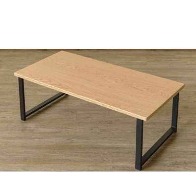 [送料無料・カード・前払限定]センターテーブル W90xD45cm ナチュラル*天板は汚れや水に強いPVCシートを使用、作業台やプリンターなど補助台にも