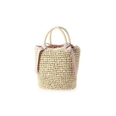 ヴィータフェリーチェ VitaFelice かごバッグ トートバッグ 手編み ポケット付き 夏バッグ (NATURAL)