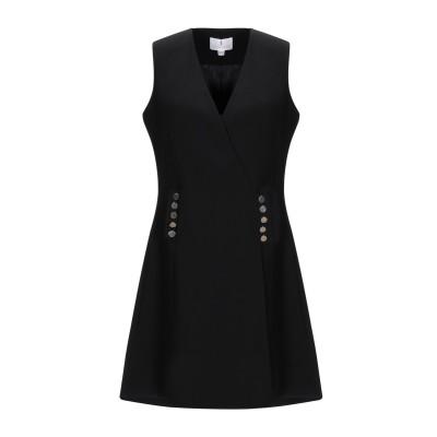 FOREVER UNIQUE ミニワンピース&ドレス ブラック 10 ポリエステル 100% ミニワンピース&ドレス