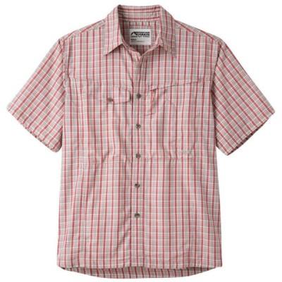 マウンテンカーキス メンズ トップス Trail Creek Shirt Summer Red Plaid